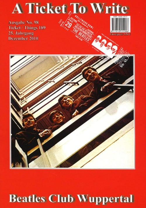 BEATLES: Fan-Magazin A TICKET TO WRITE 98