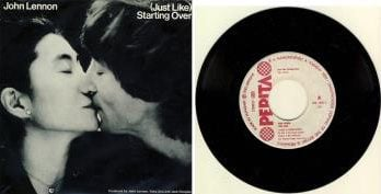 JOHN LENNON / YOKO ONO: Single (JUST LIKE) STARTING OVER / KISS