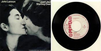 JOHN LENNON / YOKO ONO: Single (JUST LIKE) STARTING OVER / KISS