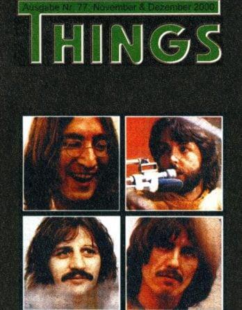 BEATLES: Fan-Magazin THINGS 77