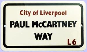 BEATLES: kleines Blechschild PAUL McCARTNEY WAY L6