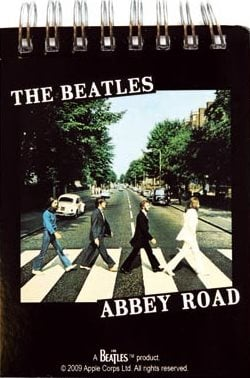 BEATLES: kleiner Notizblock ABBEY ROAD