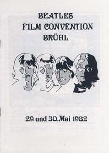 BEATLES: Heft BEATLES FILM CONVENTION BRÜHL 1982