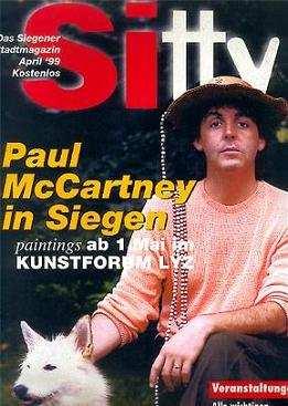 PAUL McCARTNEY: Zeitschrift SITTY, DAS SIEGENR STADTMAGAZIN