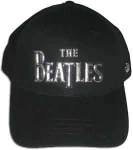 BEATLES: Baseball Cap schwarz mit Schriftzug THE BEATLES