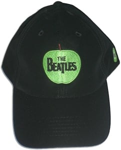 """BEATLES: Baseball Cap schwarz mit Emblem """"APPLE"""""""