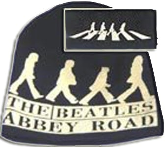 BEATLES: Wollmütze/Beanie Hat: Emblem ABBEY ROAD