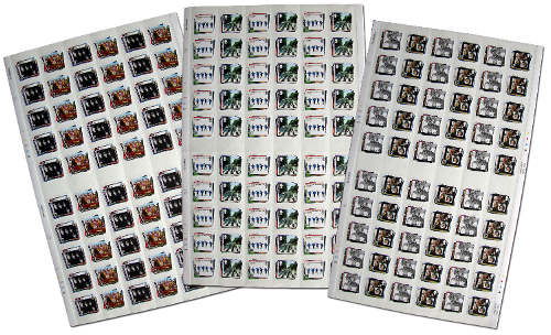 BEATLES: Briefmarken-Set DIE KOMPLETTEN BEATLES-BRIEFMARKENBÖGEN