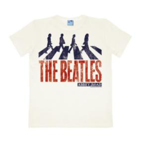 B T-Shirt BEATLES CROSSING ABBEY ROAD ON WHITE