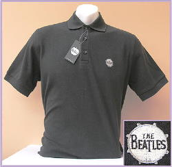 B Polo-Shirt THE BEATLES BASS DRUM schwarz
