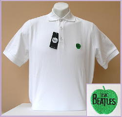 B Polo-Shirt APPLE weiß