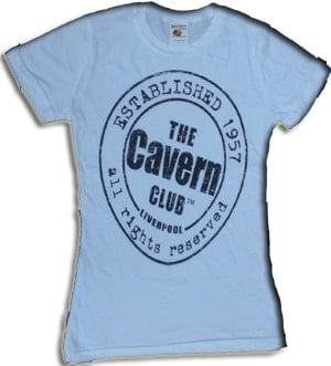 Girlie-Shirt THE CAVERN - ESTABLISHED  in Weiß