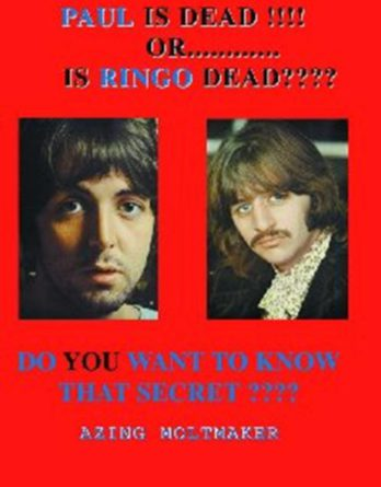 PAUL McCARTNEY: Buch PAUL IS DEAD !!!! OR ….. IS RINGO DEAD ????