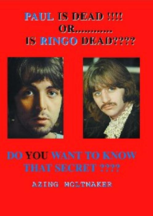 PAUL McCARTNEY: Buch PAUL IS DEAD !!!! OR ….. IS RINGO DEAD ????