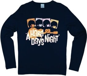 BEATLES: longsleeve-Shirt A HARD DAY'S NIGHT 1984