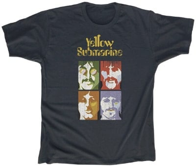 T-Shirt YELLOW SUBMARINE PSYCHEDLIC BEATLES PORTRAITS