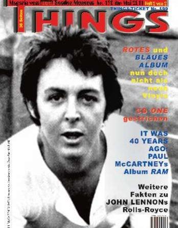BEATLES: Fan-Magazin THINGS 190