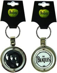 BEATLES: Double Spin Side Schlüsselanhänger COVER WITH THE BEAT