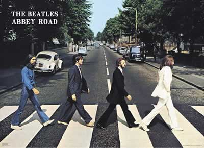 BEATLES: 3D-Poster ABBEY ROAD
