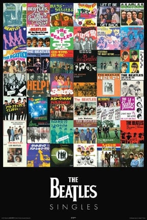 BEATLES: Poster THE BEATLES SINGELS