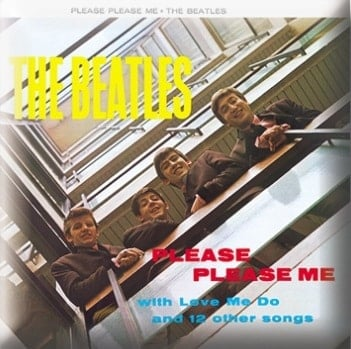 BEATLES Pin PLEASE PLEASE ME COVER