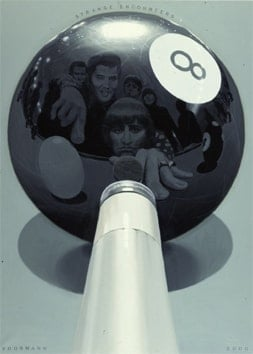 Art Print AP 15.0 Elvis Meets The Beatles, Playing Pool