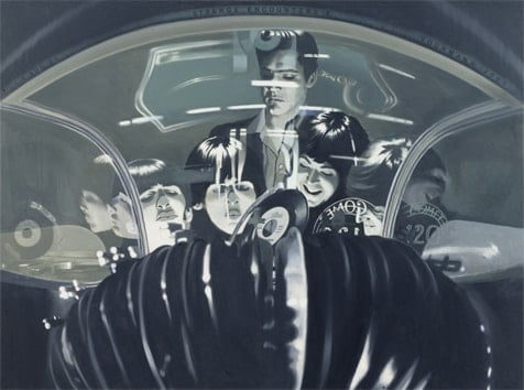 Art Print AP 16.0 Elvis Meets The Beatles, The Jukebox