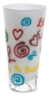 BEATLES: Kristall-Vase LOVE