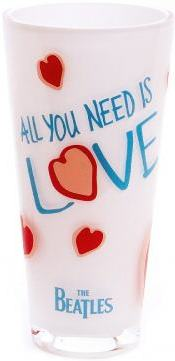 BEATLES: Kristall-Vase ALL YOU NEED IS LOVE