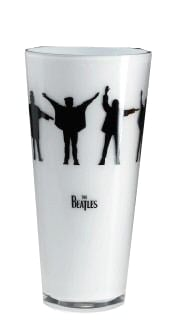 BEATLES: Kristall-Vase HELP!