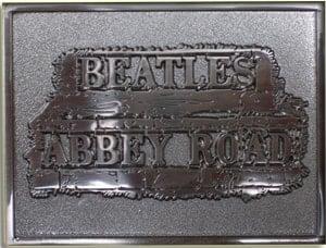 BEATLES: Gürtelschnalle ABBEY ROAD SIGN