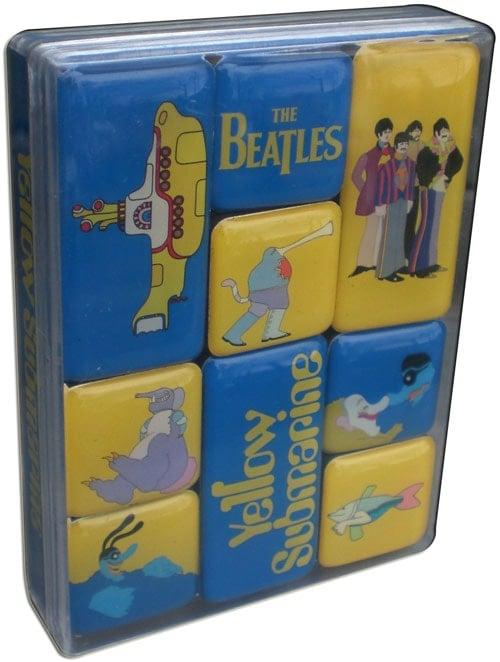 9er BEATLES-Magnetset YELLOW SUBMARINE SONGTRACK