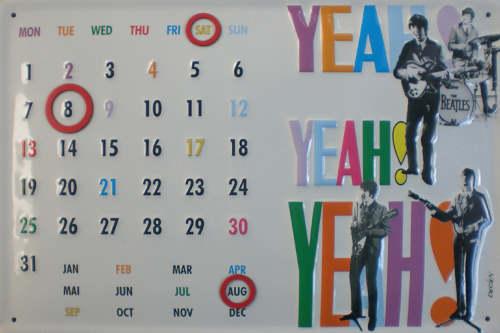 BEATLES: Blech-Kalender YEAH! YEAH! YEAH!
