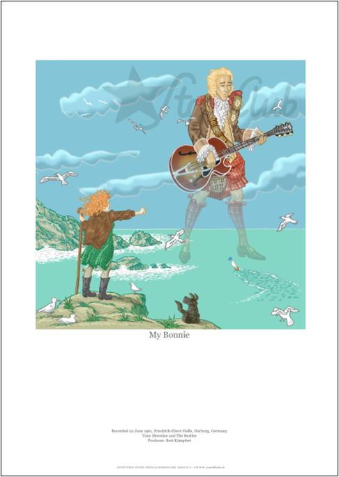 BEATLES/SHERIDAN: Art Print MY BONNIE