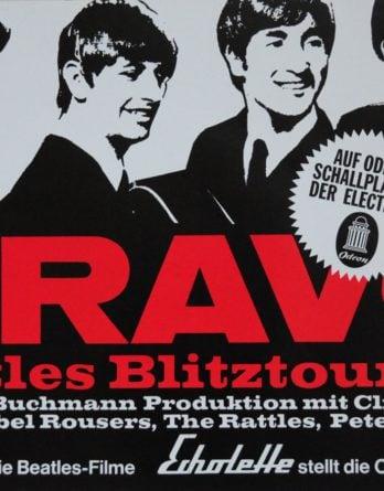 Plakat (Nachdruck): BRAVO BEATLES BLITZTOURNEE quer
