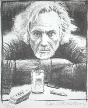 Art Print: KLAUS VOORMANN SELF PORTRAIT