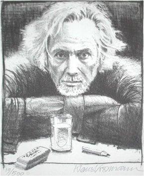 Art Print: KLAUS VOORMANN SELF PORTRAIT