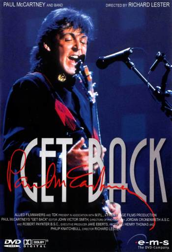 PAUL McCARTNEY: DVD GET BACK - THE WORLD TOUR 1989