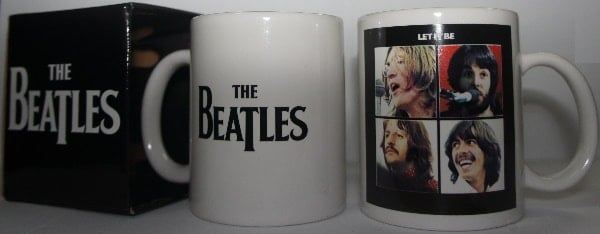 Kaffeebecher LET IT BE COVER & LOGO THE BEATLES ON WHITE