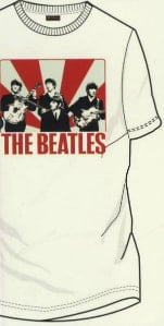 BEATLES T-Shirt ED SULLIVAN SHOW, weiß