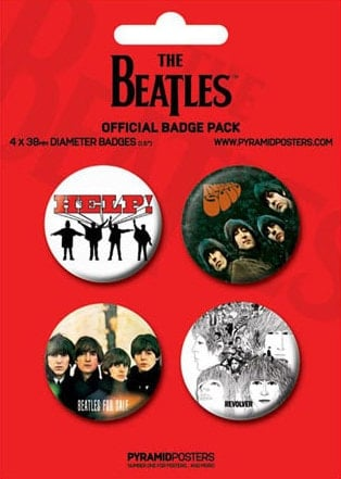 BEATLES: 4 Button Set RED