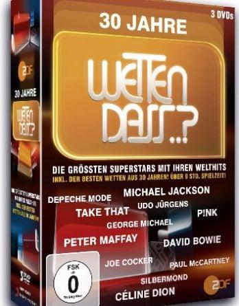 PAUL McCARTNEY u.a.: 3er DVD Box WETTEN, DASS..? - 30 JAHRE