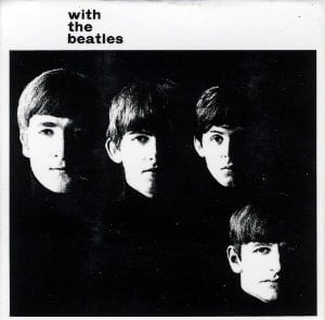 BEATLES-Magnet WITH THE BEATLES LP COVER