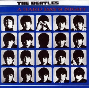BEATLES-Magnet A HARD DAY'S NIGHT LP COVER.
