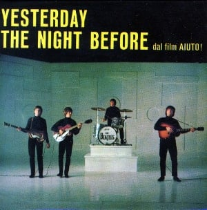 BEATLES-Magnet YESTERDAY SINGLE COVER ITALY .