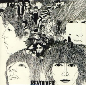 BEATLES-Magnet REVOLVER LP COVER.
