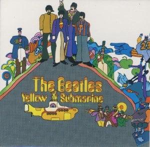 BEATLES-Magnet YELLOW SUBMARINE LP COVER.