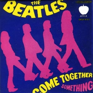BEATLES-Magnet COME TOGETHER SINGLE COVER ITALY.