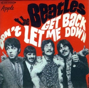 BEATLES-Magnet GET BACK SINGLE COVER FRANCE.