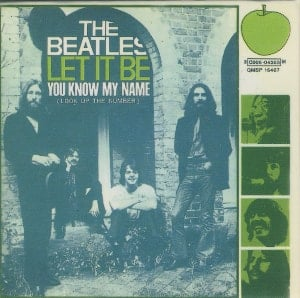 BEATLES-Magnet LET IT BE SINGLE COVER ITALY.